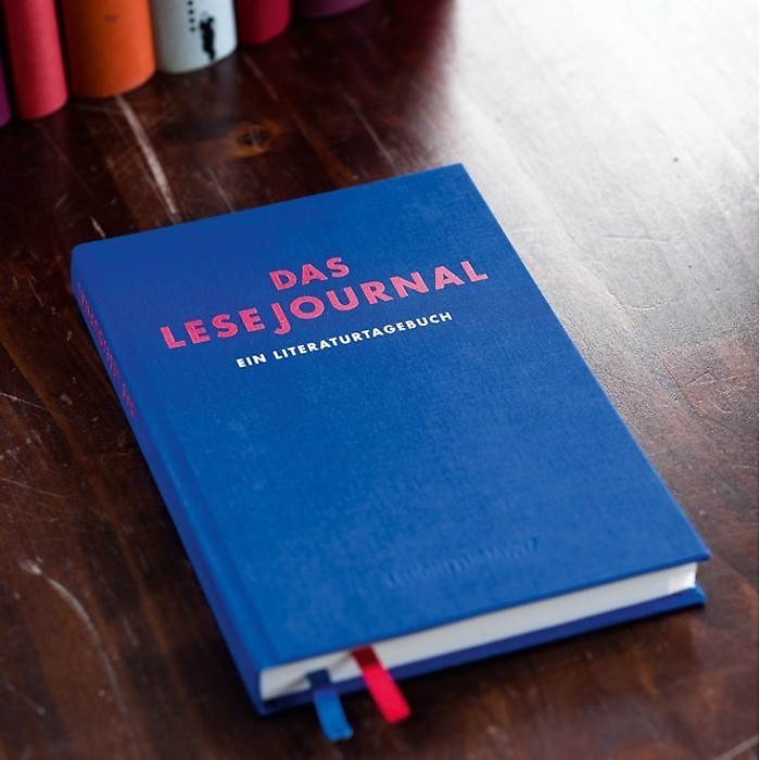 Lesejournal, 216 pages, Blue, German