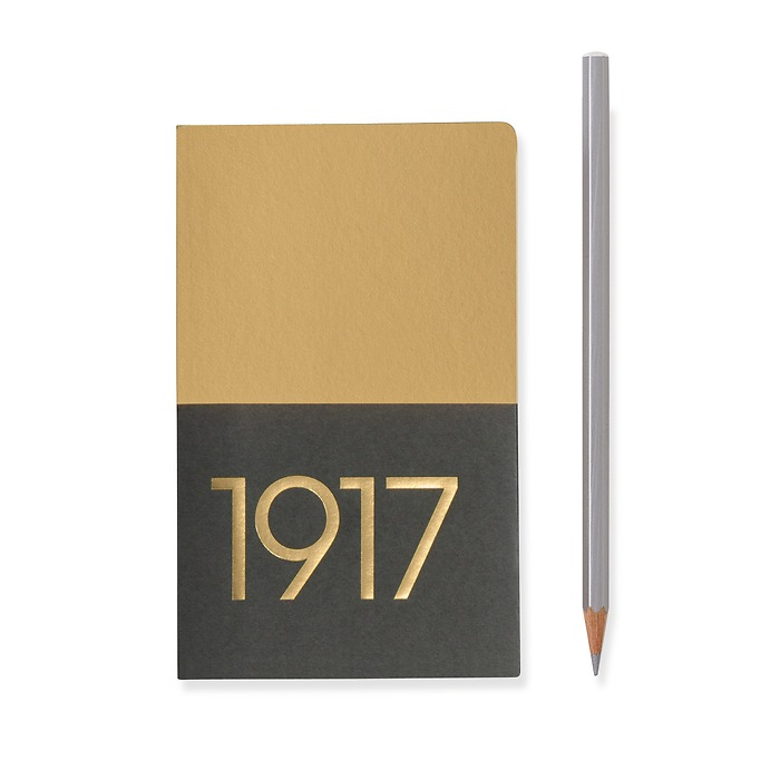 Jottbook Pocket (A6), 60 numbered pages, plain, Gold, pack of 2