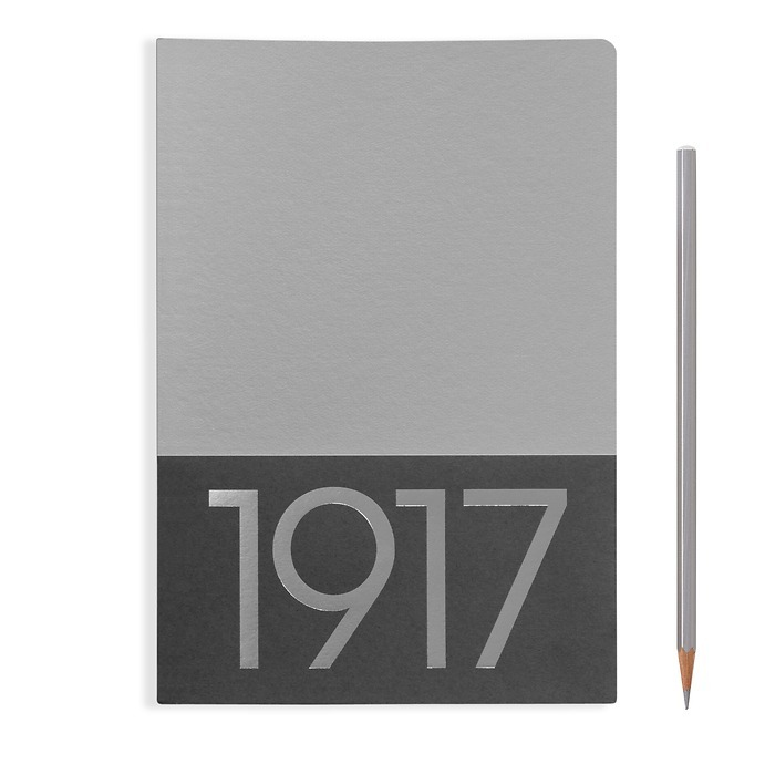 Jottbook Medium (A5), 60 numbered pages, plain, Silver, pack of 2
