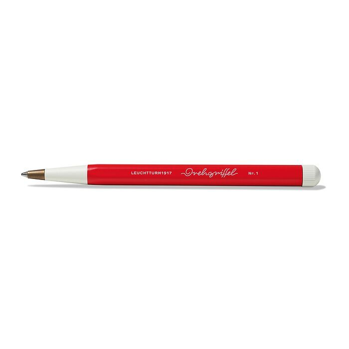 Drehgriffel Nr. 1, Red - Ballpoint pen with royal blue ink