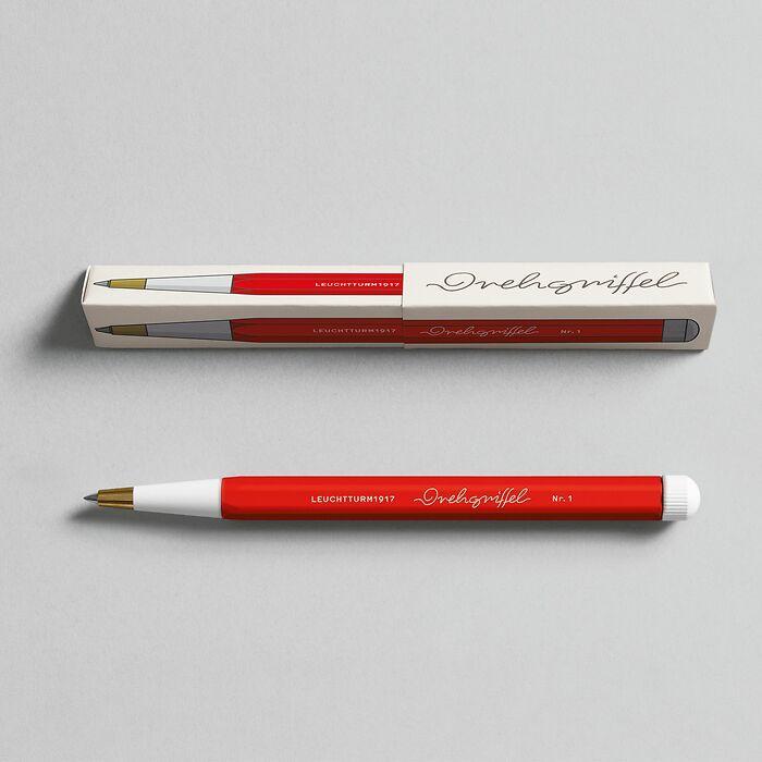 Drehgriffel Nr. 1, Red - Gelpen with black ink