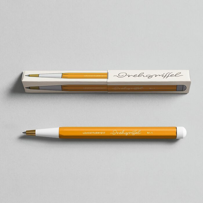 Drehgriffel Nr. 1, Rising Sun - Gelpen with black ink