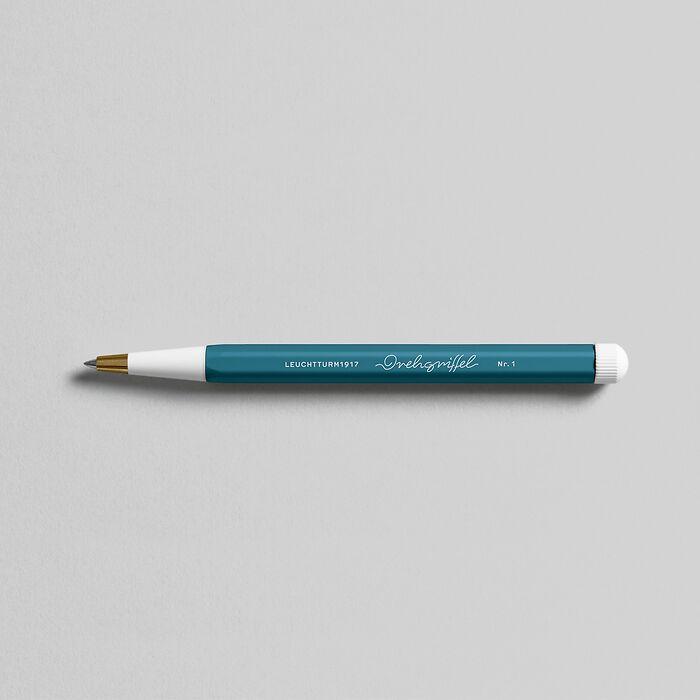 Drehgriffel Nr. 1, Stone Blue - Gelpen with black ink