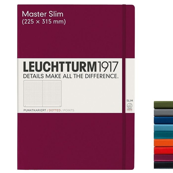 Notebook Master Slim (A4+), Hardcover, 123 numbered pages