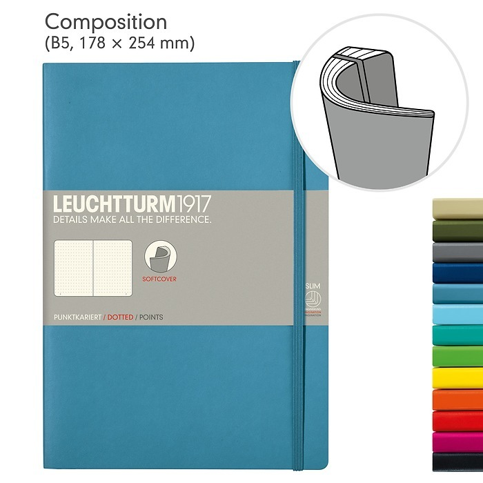 Notebook Composition (B5), Softcover, 123 numbered pages