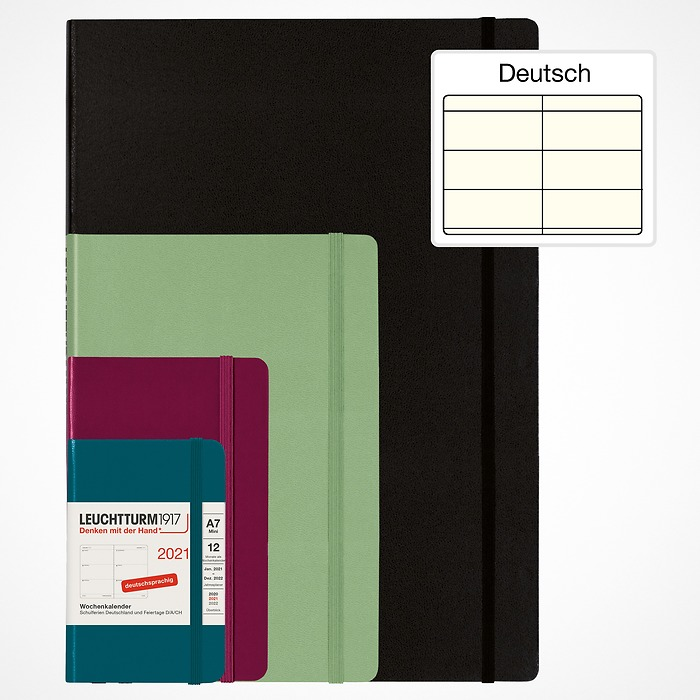 Weekly Planner 2021 with booklet for addresses and birthdays, German