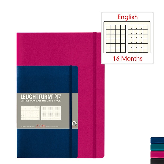 Monthly Planner & Notebook 2020 - Softcover - English