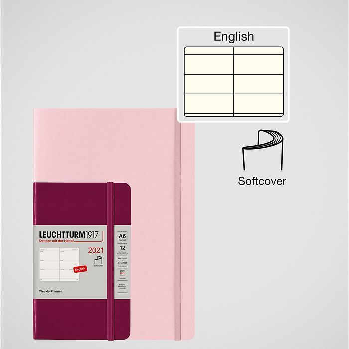 Weekly Planner & Notebook 2021, Softcover, English